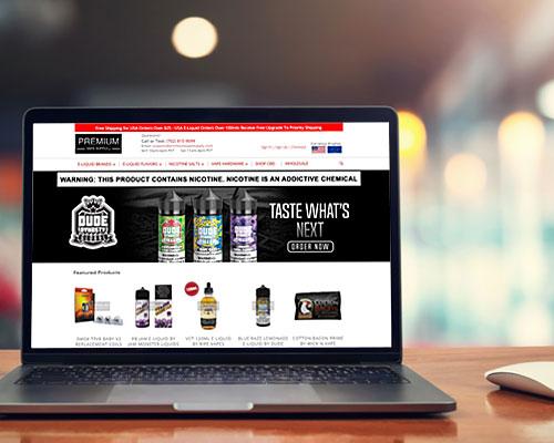vaping website design