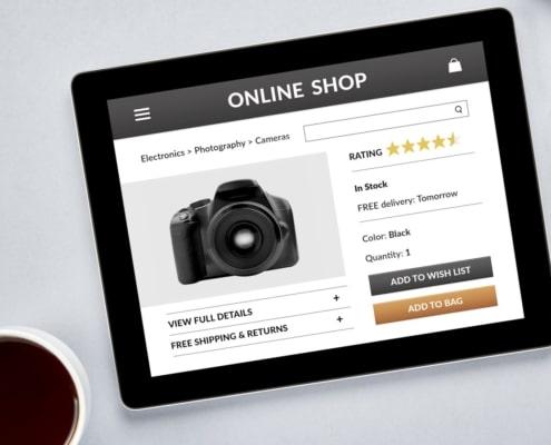 technology electronics website design