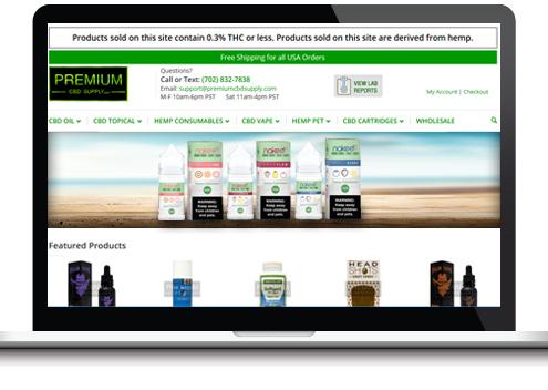 custom cbd website design