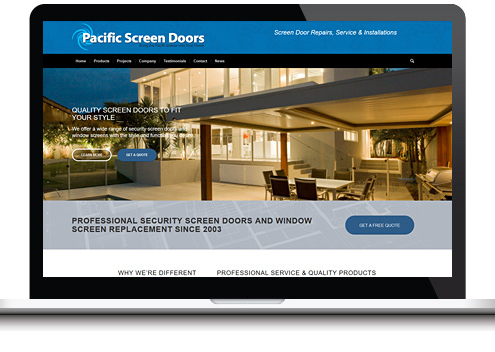 Window Screen Door Website Design